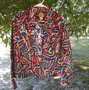 Ruby Rd. Paisley Print Jean Type Jacket